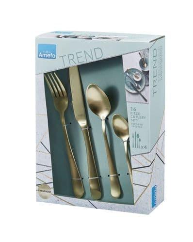 Amefa Champagne Cutlery Set - 16 Piece